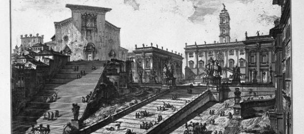 Veduta del Campidoglio di Giovanni Battista Piranesi