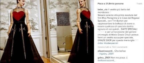 Bebe Vio in Dior per la prima di Miss Peregrine - Istangram