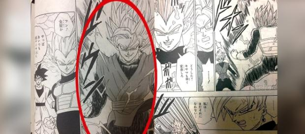 Goku Black en Super Saiyajin 2 en el manga 19.