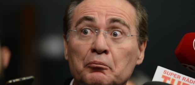 Renan Calheiros irritado com Luiz Fux