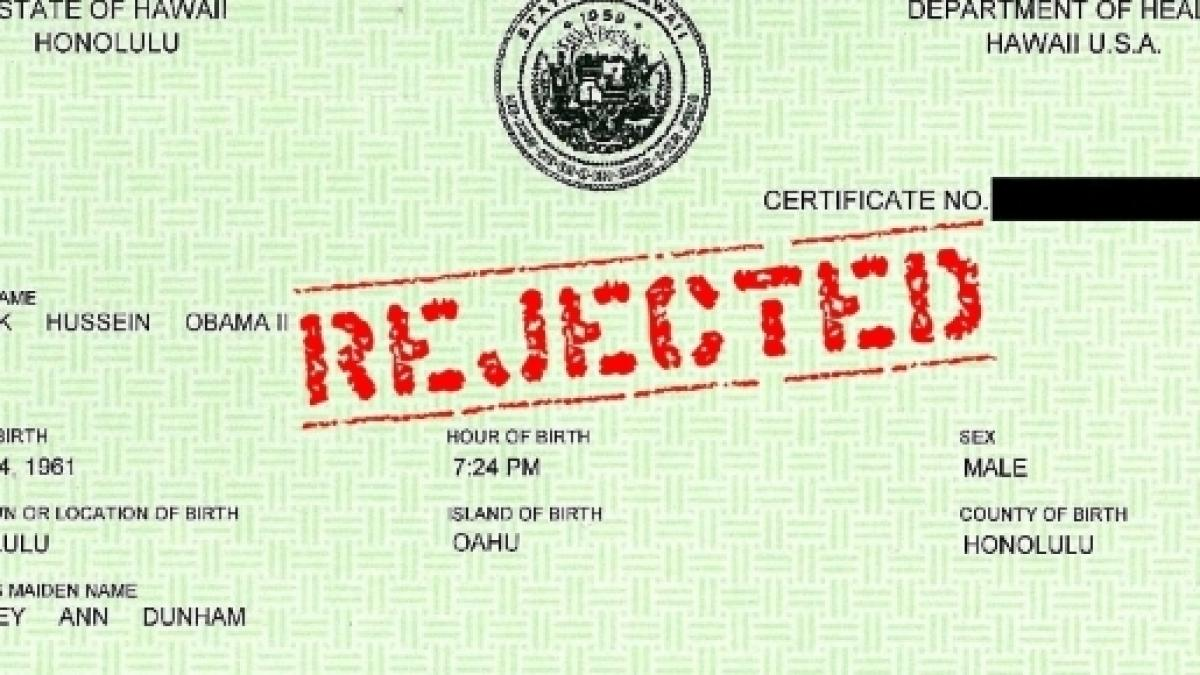 Breaking Obama Birth Certificate A Proven Forgery