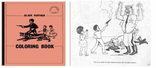 Black Panther Coloring Book, publicación promovida por el FBI a finales de los 60.