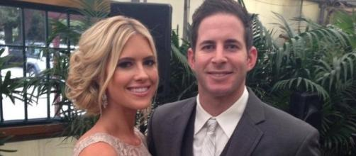 Christina and Tarek El Moussa of 'Flip or Flop' attend a wedding [Image via Facebook]