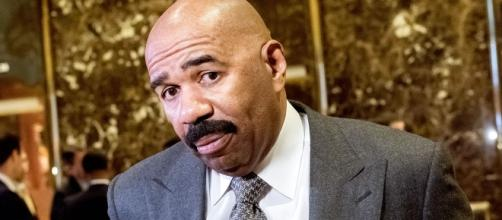 Steve Harvey at Trump Tower. / Photo by Bloomberg, Blasting News library