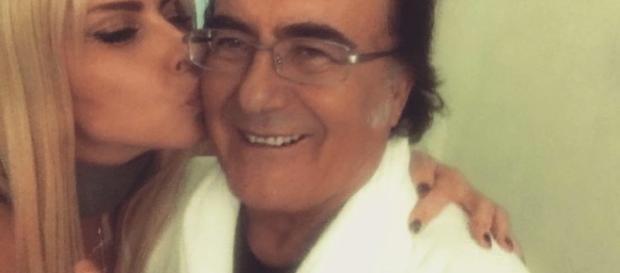 Al Bano baciato da Loredana Lecciso dopo gli infarti: scatto su Twitter.