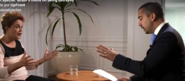 Dilma Rousseff e jornalista da Al Jazeera