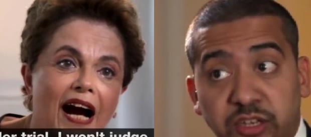 Dilma se irrita em entrevista - Foto/Reprodução: Twitter