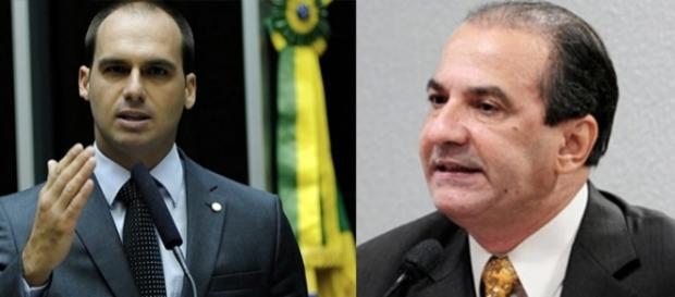 Eduardo Bolsonaro e Silas Malafaia