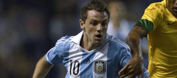 Walter Montillo em ação pela seleção da Argentina