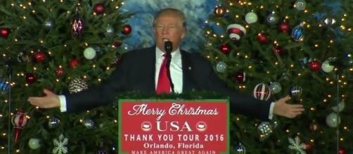 "Donald Trump at ""Thank You Tour,"" via YouTube"