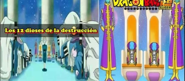Dragon ball Super los 12 dioses de la destruccion