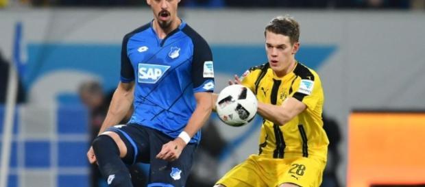 Sandro Wagner und Matthias Ginter in einem der vielen Duelle (Quelle: bild.de)