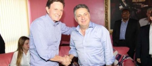 Marcelo Crivella e Anthony Garotinho na política carioca