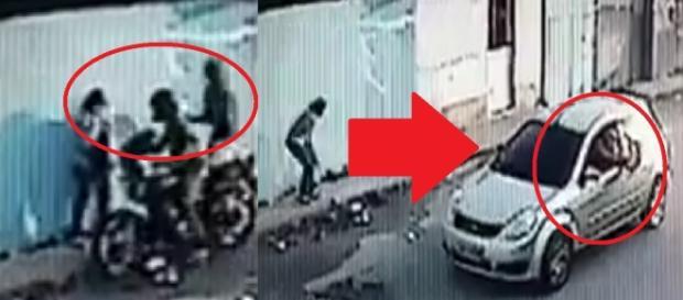 Bandidos são interpelados por policial - Google