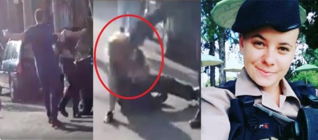 Homem agrede policial na rua - Google