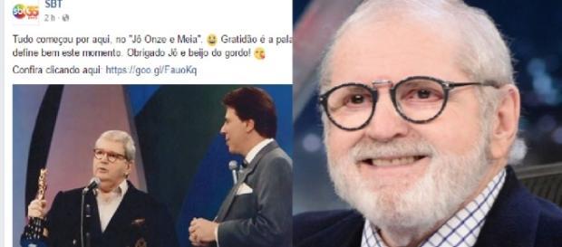 Jô Soares e a possível contratação do SBT - Facebook