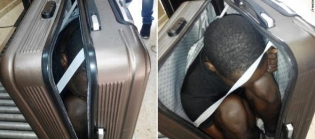 Rapaz tentava entrar em território Espanhol dentro de uma mala