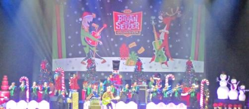 """The """"Christmas Rocks! Tour"""", starring The Brian Setzer Orchestra, continues through December 29. (Christine Zeiger)"""