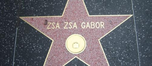 Zsa Zsa Gabor's Hollywood star/Photo by Loren Javier via Flickr, CC BY-ND 2.0/https://www.flickr.com/photos/lorenjavier/3583249111