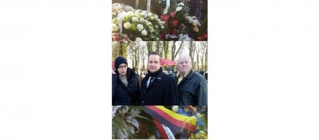 Anhänger der AfD in Polen bei der Bestattung Urbans