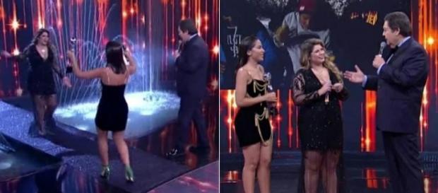 Faustão é ignorado por Marília Mendonça ao fazer piada (foto: reprodução / TV Globo)