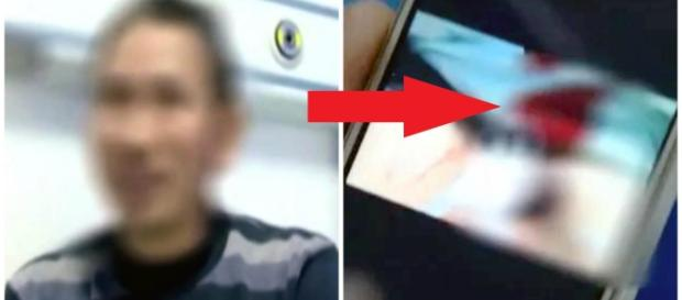 Imagens no celular provam os ferimentos do chinês