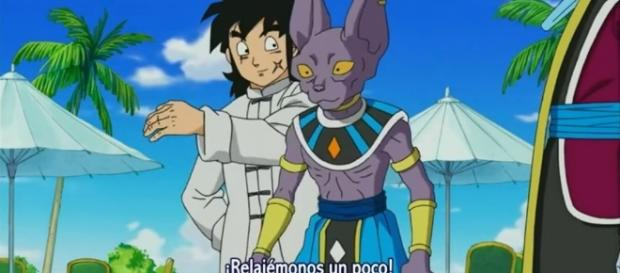 Yamcha y Bills en Dragon Ball super
