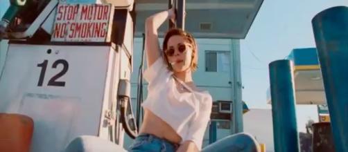 Kristen Stewart in Rolling Stone's music video screenshot by Andre Braddox