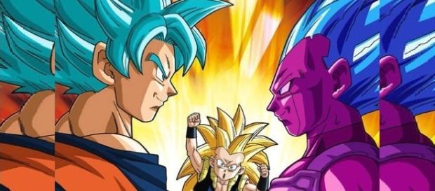 "Goku, the copy of Vegeta and Gotenks (""SuperVegetto: Youtube)"