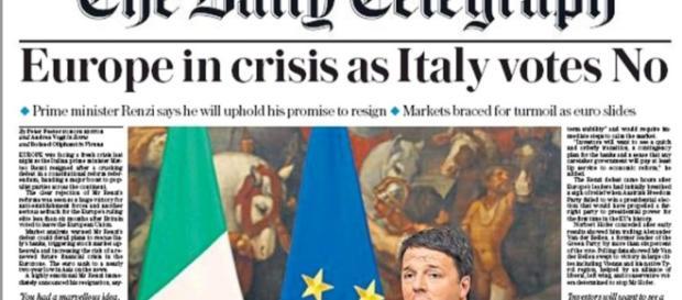 Le dimissioni del Presidente Matteo Renzi fanno il giro del mondo