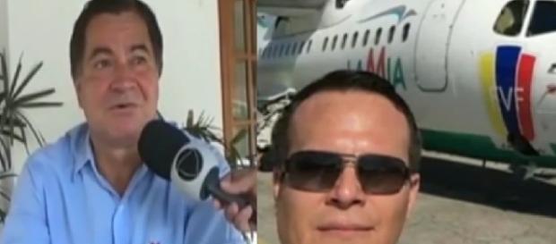 Sogro de piloto pede perdão às famílias - Foto/Montagem