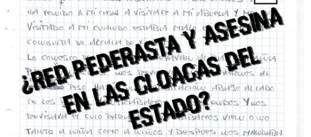 Texto sobre declaracion a mano de víctima de abusos en Bar España