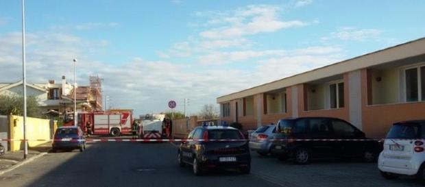 via Praga a Ladispoli transennata per la fuga di gas