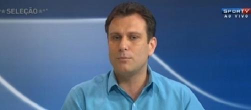 André Loffredo, comentarista do SporTV, durante o 'Seleção'