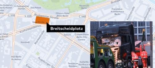 Les conspirationnistes soutiennent que le camion aurait été volontairement endommagé après un ''présumé attentat''