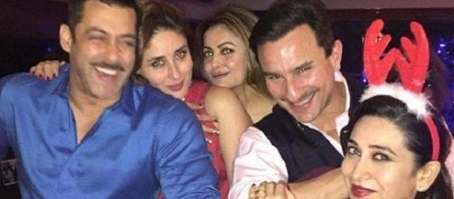 Salman Khan and Kareena Kapoor attend Amrita Arora Christmas bash - (Youtube screen grab)