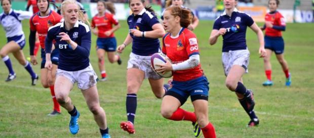 Bárbara Pla en el España-Escocia. Fotografía World Rugby