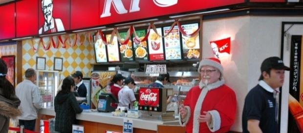 In Japan, Christmas comes with KFC