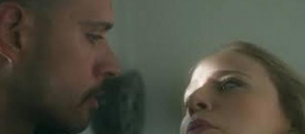 Fininho e Jéssica em 'A Lei do Amor' (Divulgação)