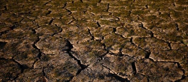 Solo seco do Lago Purdy, em Birmingham, Alabama, nos Estados Unidos, evidenciando as condições hídricas (Foto: AP Photo/Brynn Anderson, File)