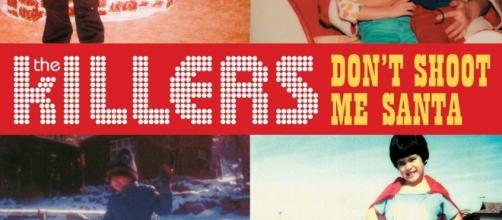 "Copertina del cd singolo ""Don't Shoot me Santa"" dei The Killers."
