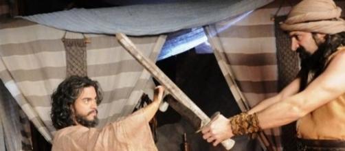 Josué e Yussuf em 'A Terra Prometida' (Divulgação/Record)