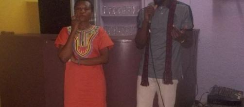 Les deux artistes plasticiens Didier Ebanda et Eliane Bidjoka