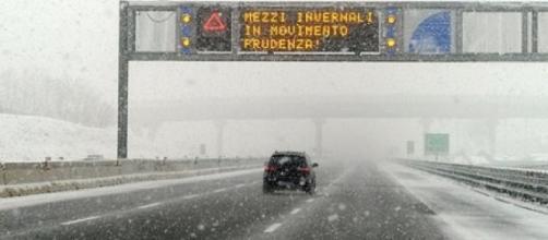 Maltempo: arriva la neve sulle autostrade