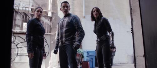 "Slingshot, Ghost Rider, and Quake in ""The Laws of Inferno Dynamics""/Photo via screenshot, 'Agents of SHIELD'/ABC"