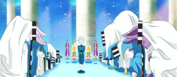 12 dioses de la destruccion rindiendo respeto a Daishinkan