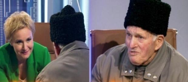 Bătrânul care a amenințat că își dă foc - sursă foto Antena 3