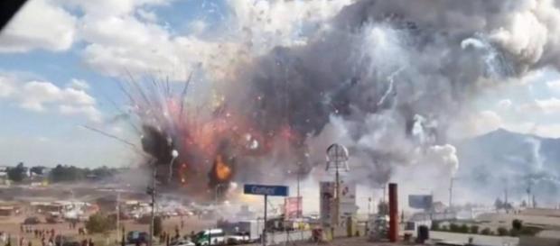 Explosões assustam em mercado do México - Imagem/O Globo