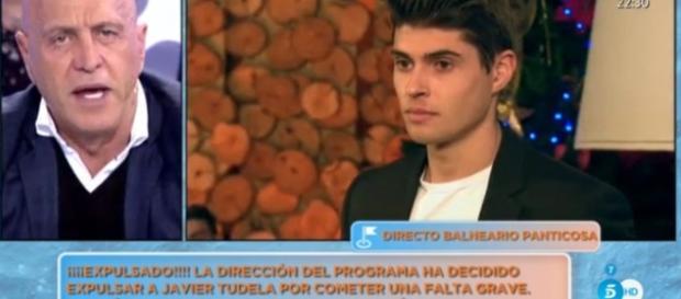 Javier Tudela, consolado por su novia Alejandra tras su expulsión ... - bekia.es