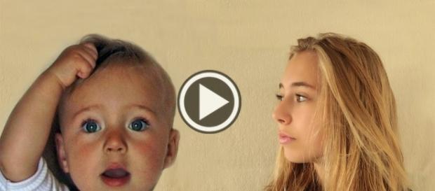 Na imagem vemos o antes e o depois da menina que foi filmada por 14 anos.